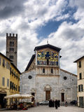 San Frediano church with mosaics in Lucca Royalty Free Stock Photos
