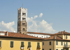 San Frediano church tower in Lucca, Italy. Stock Photography