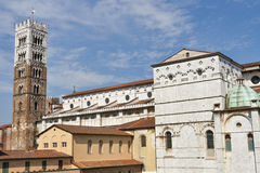 San Frediano church tower in Lucca, Italy. Stock Photos