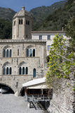 San Fruttuoso Abbey on the beach, Portofino Stock Photography