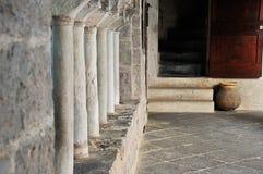 San Fruttuoso abbey detail 2. San Fruttuoso abbey, top cloister columns detail Stock Photography