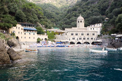 San Fruttuoso Abbey, Italy Royalty Free Stock Images