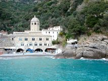 San Fruttuoso abbey, Italy Stock Photo