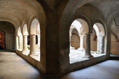 San Fruttuoso abbey 1. San Fruttuoso lower cloister view Royalty Free Stock Image