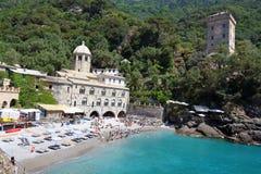 San Fruttuoso abbotskloster, Camogli, Liguria, Italien Royaltyfri Foto
