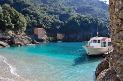 San Fruttuoso bay unesco Royalty Free Stock Photography
