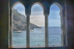 San Fruttuoso, Ligurien, Italien Lizenzfreies Stockfoto