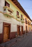 Colonial architecture in San Gabriel, Ecuador Royalty Free Stock Images