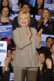 SAN GABRIEL, LA, CA - JANUARY 7, 2016, Democratic Presidential candidate Hillary Clinton smiles and claps to Asian American and Pa Stock Photography
