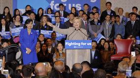 SAN GABRIEL, LA, CA - JANUARY 7, 2016, Democratic Presidential candidate Hillary Clinton speaks to Asian American and Pacific Isla Royalty Free Stock Photos