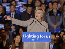SAN GABRIEL, LA, CA - JANUARY 7, 2016, Democratic Presidential candidate Hillary Clinton speaks to Asian American and Pacific Isla Stock Image