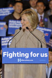 SAN GABRIEL, LA, CA - JANUARY 7, 2016, Democratic Presidential candidate Hillary Clinton waves and smiles to Asian American and Pa Royalty Free Stock Images