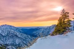 San Gabriel Mountains, Califórnia Foto de Stock Royalty Free