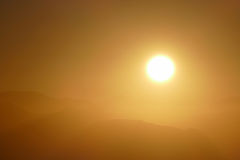 San Gabriel Mountains National Monument Sunrise perto de Los Angeles Fotografia de Stock