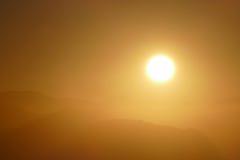 San Gabriel Mountains National Monument Sunrise vicino a Los Angeles Fotografia Stock