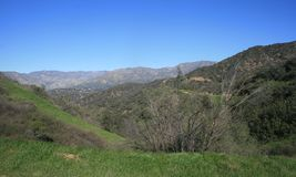 San Gabriel Mountains Panorama Immagini Stock Libere da Diritti
