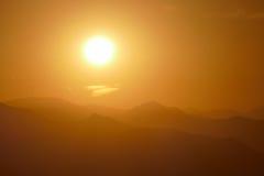 San Gabriel Mountains Sunrise near Los Angeles Royalty Free Stock Photo
