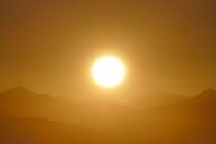 San Gabriel National Monument Mountain Ridge Sunrise Stock Photo