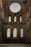 San Galgano abbey Royalty Free Stock Images