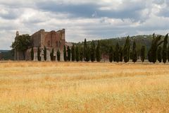 San Galgano Abbey Tuscany, Italy Royalty Free Stock Images