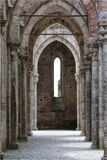 San Galgano abbey, Tuscany, Italy Stock Photo