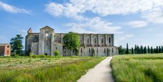 San Galgano Church ruins in Siena (Tuscany - Italy) Royalty Free Stock Photography