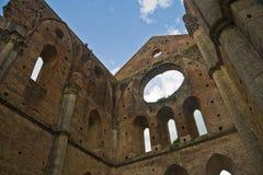 San Galgano - la Toscana Fotografie Stock