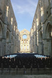San galgano. The open church in tuscany used as a theatre in summer for concert and opera Stock Photography