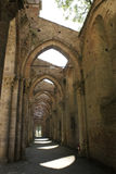 San galgano. The open church in tuscany used as a theatre in summer for concert and opera Stock Photos
