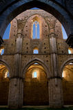San Galgano's Abbey inner view Royalty Free Stock Photos