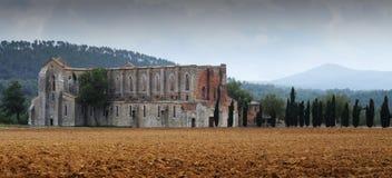San Galgano, Toskana Lizenzfreies Stockfoto