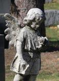 San gammalt ängelbarn på a Arkivbild