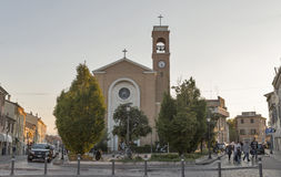 San Gaudenzo Church facade in Rimini, Italy. Royalty Free Stock Photography