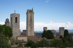 San Gemignano  towers view Royalty Free Stock Images