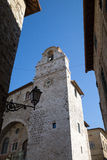 San Gemini medieval town in Italy. The church of San Francesco in the medieval village of San Gemini. Umbria region, central Italy Royalty Free Stock Photography
