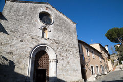 San Gemini medieval town in Italy. The church of San Francesco in the medieval village of San Gemini. Umbria region, central Italy Stock Photography