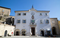 San Gemini medieval town in Italy. The Praetorian Palace in the medieval village of San Gemini. Umbria region, central Italy Stock Photo