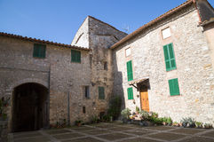 San Gemini medieval town in Italy. View of the medieval village of San Gemini. Umbria region, central Italy. San Gemini is famous for its thermal baths Royalty Free Stock Photo
