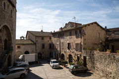 San Gemini medieval town in Italy. View of the medieval village of San Gemini. Umbria region, central Italy. San Gemini is famous for its thermal baths Royalty Free Stock Photography