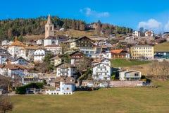 San Genesio, idyllic village near Bolzano. Trentino Alto Adige, Italy. The municipality of S. Genesio is located high above the provincial capital of Bolzano royalty free stock photography