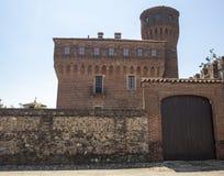 San Genuario, Vercelli ed il suo castello fotografie stock libere da diritti