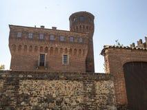 San Genuario, Vercelli ed il suo castello immagine stock