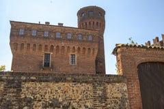 San Genuario, Vercelli ed il suo castello immagini stock