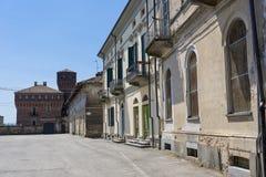 San Genuario, Vercelli ed il suo castello fotografia stock libera da diritti