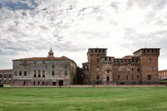 San George Castle in Mantua royalty free stock images