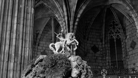 San George ed il drago Fotografie Stock Libere da Diritti