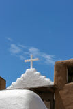 San Geronimo Chapel in Taos Pueblo, USA Stock Image