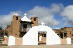San Geronimo Chapel in Taos Pueblo, USA Royalty Free Stock Image