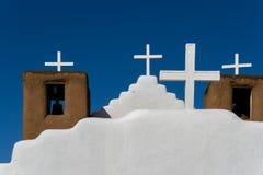San Geronimo Chapel in Taos Pueblo, USA Stock Image