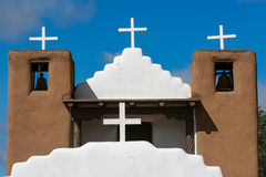 San Geronimo Chapel in Taos Pueblo, USA Stock Photography